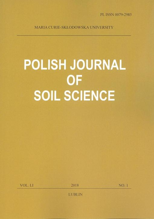 Okładka: Polish Journal of Soil Science vol. LI, NO. 1/2018